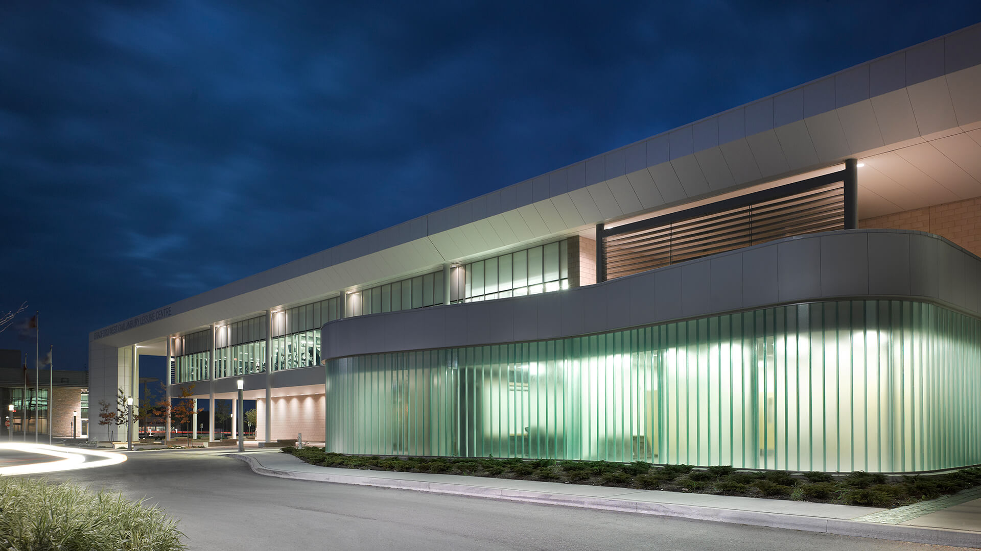 Ontario Leisure Centre Channel Glass Architectural Glass