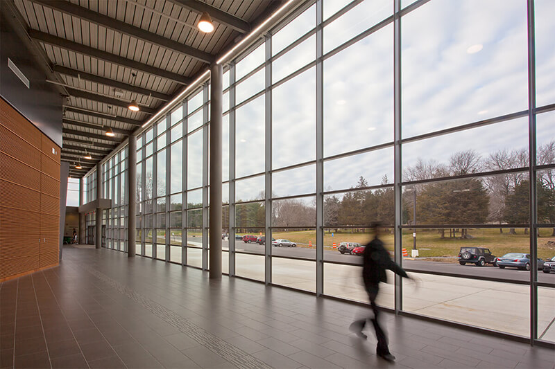 Trumbull High School Auditorium Curtain Wall Case Study