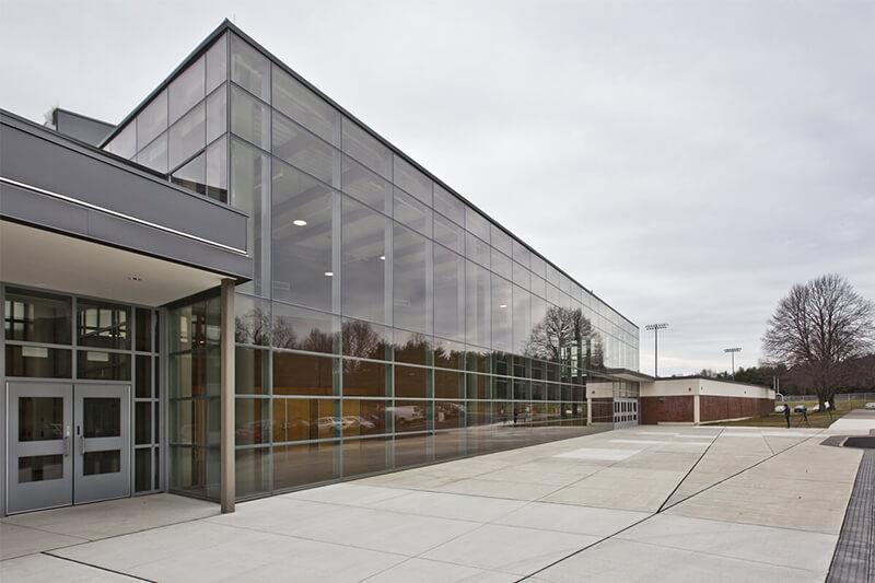 Trumbull High School Auditorium Curtain Wall Case Study